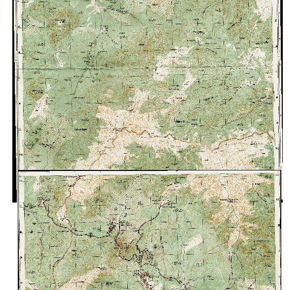 harta Ciucaş topo raster